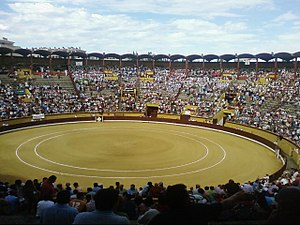 Coliseum Burgos - Before a bullfight in 2009.