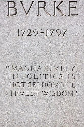 Edmund Burke (Thomas) - Image: Burke Statue front inscription by Steven Christe