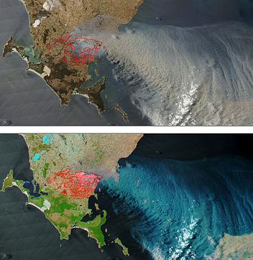 Bushfires on Eyre Peninsula, South Australia January 11 2005.jpg