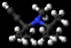 Butynamine - Image: Butynamine 3D balls