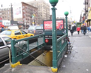 145th Street (IRT Broadway–Seventh Avenue Line) - Street stair