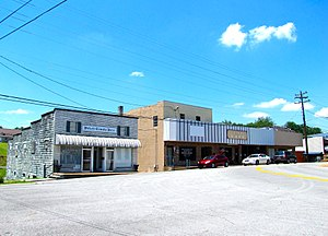 Pickett County, Tennessee - Main Street in Byrdstown