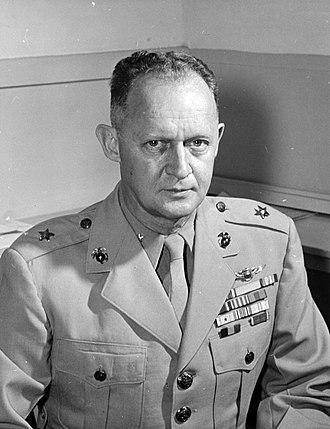 Byron F. Johnson - Johnson as Brigadier general, USMC