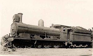 CGR 5th Class 4-6-0 1891 - CGR no. 122, SAR no. 0122, c. 1920