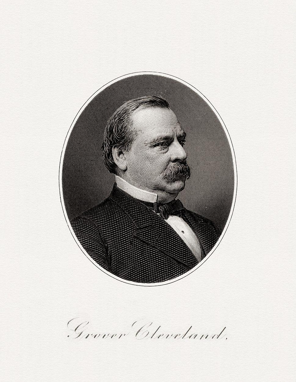 CLEVELAND, Grover-President (BEP engraved portrait)
