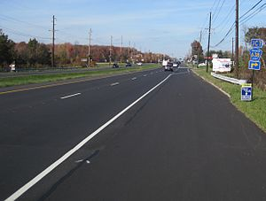 County Route 541 (New Jersey) - The divided portion of CR 541 north of Mount Holly