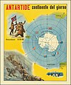 Ca. 1930 Italian image illustrating the race for the South Pole and a map of Antarctica.jpg