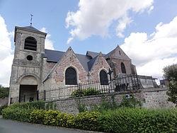 Caillouël-Crépigny (Aisne) église Saint-Pierre, vue du sud.JPG