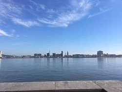 Camden skyline from Penn's Landing in Philadelphia