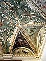 Camillo mantovano, volta della sala a fogliami di palazzo grimani, 1560-65 ca., lunette con grottesche e rebus allusivi al processo per eresia di giovanni grimani 10.jpg
