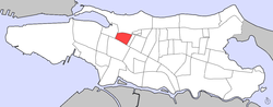 Location of Campo Alegre within the District of Santurce