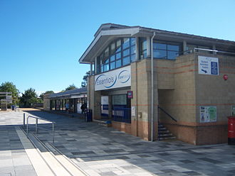 University of Kent - The shops at the Canterbury campus, with the Kent Union offices housed in the offices above.