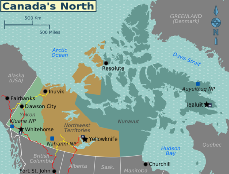 northern canada regions