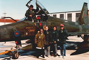 Bristol Aerospace - The first Canadian Forces Canadair CF-5 arrived at Bristol Aerospace on 1 April 1987 and was received by the company Flight Service crew.