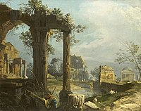 Canaletto (Venice 1697-Venice 1768) - A Capriccio View with Ruins - RCIN 405079 - Royal Collection.jpg