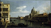 Canaletto - View of the Grand Canal - Santa Maria della Salute and the Dogana from Campo Santa Maria Zobenigo CAM CCF PD 106 1992.jpg
