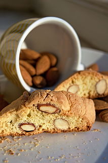 Biscotti twice-baked cookies or biscuits originating in the Italian city of Prato