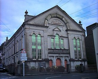 A nonconformist chapel in Pwllheli, Wales. Unlike historic chapels, this is not attached to a larger place of worship. Capel Salem Pwllheli - geograph.org.uk - 346093.jpg