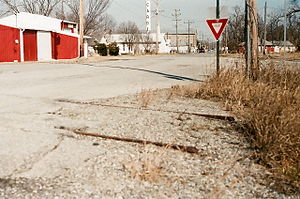 Cardin, Oklahoma - A view of downtown Cardin in 2008.