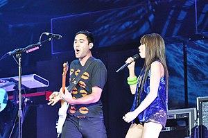"Good Time (Owl City and Carly Rae Jepsen song) - Jepsen and Jared Manierka performing ""Good Time"" during the Believe Tour in October 2012."