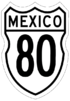 Federal Highway 80 shield