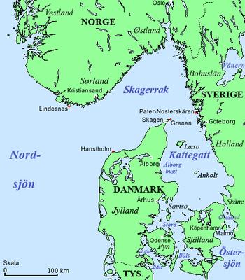Karta Sodra Danmark.Skagerrak Wikipedia