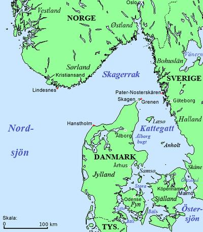 sverigekarta västkusten