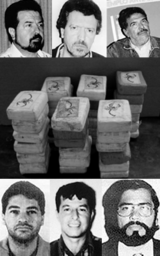 Poster identifying members of the Cali Cartel
