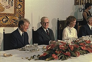 Ernesto Geisel - Geisel with U.S. President Jimmy Carter and First Lady Rosalynn Carter during a formal dinner at the Palácio da Alvorada, March 29, 1978