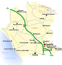 Map of the Province of Caserta