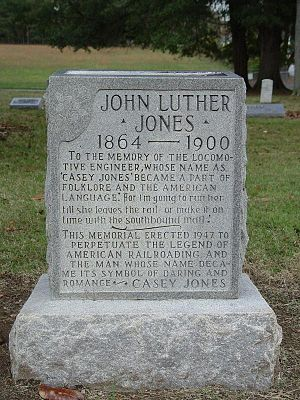 "Jackson, Tennessee -  John Luther ""Casey"" Jones grave stone"