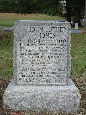"Jackson, Tennessee -  John Luther ""Casey"" Jones grave stone"