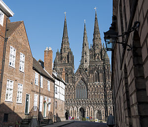 Cathedral Close, Lichfield - Western entrance to the Cathedral Close