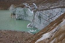Eau de fonte provenant d'un glacier