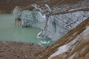 Meltwater - Meltwater from Mount Edith Cavell Cavell Glacier