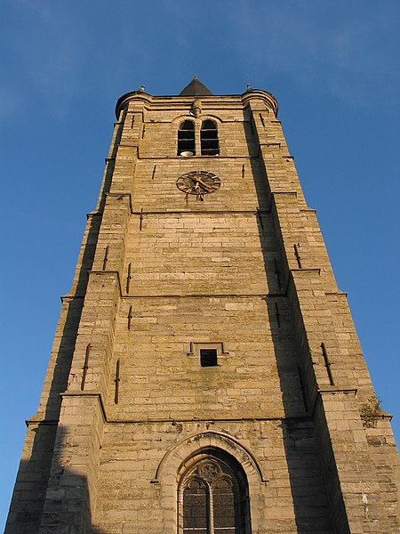 Celles (Hainaut) (Belgium), the St. Christopher's church XVth century).