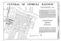 Central of Georgia Railway, Savannah Repair Shops and Terminal Facilities, Bounded by West Broad, Jones, West Boundary and Hull Streets, Savannah, Chatham County, HAER GA,26-SAV,55- (sheet 1 of 17).png
