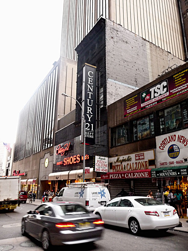 Century 21 department store on Cortlandt Street downtown Manhattan NYC Shopping HELP! Century 21 department store - - - - right across the Street from the World Trade Center site.