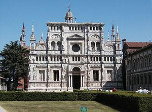 Certosa di Pavia (comune) - The facade of the Certosa di Pavia Monastery