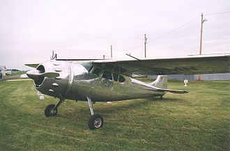 Cessna 195 - 1949 model Cessna 195 in polished aluminum finish