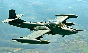 Air Force of El Salvador - An FAS A-37 Dragonfly in flight over Mexico