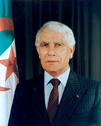 Algerian legislative election, 1991 - Image: Chadli