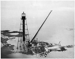 Chandeleur Island Light - Image: Chandeleur Island Light LA 1971