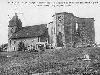 Notre Dame du Haut - Remains of the 4th Century Chapel