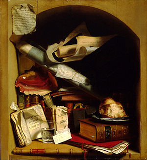Charles Bird King - The Poor Artist's Cupboard, ca. 1815