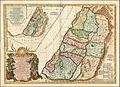 Charles Francois Delamarche. Carte De La Terre Hebreux ou Israelites partagee selon l'ordre de Dieu aux douze tirbus descendantes Des Douze Fils De Jacob. Paris 1797.jpg