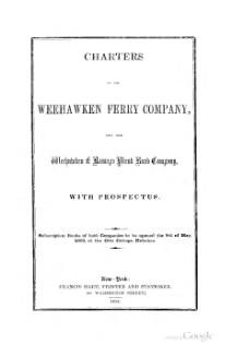Charters of the Weehawken ferry company.djvu