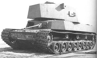 Type 5 Chi-Ri medium tank - Incomplete prototype of the Type 5 Chi-Ri after capture by American forces