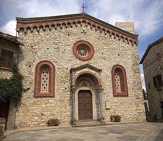 Gaiole in Chianti - Pieve of San Bartolomeo a Vertine.