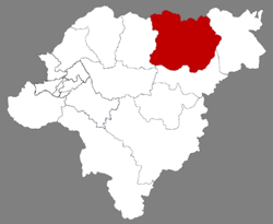 Location of Tonghe in Harbin